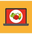 shopping online concept order organic food vector image vector image