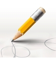 Simple pencil on white background vector image