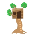 Small tree house icon cartoon style vector image vector image