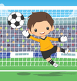 soccer goalkeeper at the gate vector image vector image