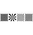 sunburst abstract background set starburst vector image