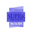 Super discount Sale banner isolated Sale vector image vector image