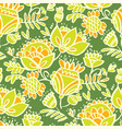 tropical green abstract sketch floral pattern vector image