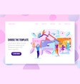 user onboarding web page flat template vector image
