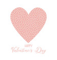 valentines day background with spotted heart vector image vector image