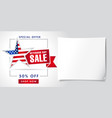 veterans day usa sale poster vector image vector image