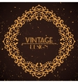 Vintage golden frame on grunge background vector image