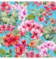 Watercolor geranium pattern vector image vector image