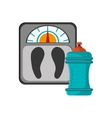 weight scale and sports bottle icon vector image