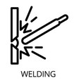 welding icon outline style vector image