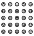 wheel icons set flat car wheels disks vector image vector image