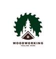 wood working symbol logo design vector image
