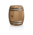wooden barrel vector image