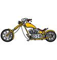 Yellow chopper vector image vector image