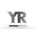 yr y r lines letter design with creative elegant vector image vector image