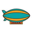 zepeling fly isolated icon vector image