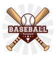 baseball sport tournament bats ball sticker image vector image