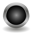 Metallic button vector image