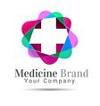 Plus sign medical healthcare logo template design vector image