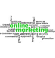 word cloud online marketing vector image