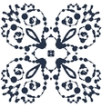 Ink blobs in symmetrical winged pattern vector image