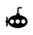 sea submarine isolated icon vector image