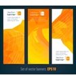 Set of banners with abstract background and text vector image