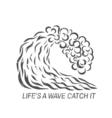 surf wave Logo design vector image