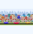 old town village main street vector image