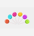about colorful lollipops vector image