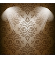Abstract damask pattern in brown color