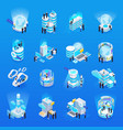 big data isometric set vector image vector image