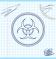 biohazard symbol line sketch icon isolated on vector image vector image
