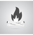 Bonfire logo labels and badges vector image