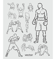 Boxing Sketches vector image vector image
