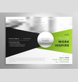 business brochure design in green and black shade vector image vector image