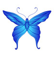 butterfly with patterned wings bright gradient vector image vector image