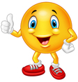 Cartoon emoticon giving thumb up vector image vector image