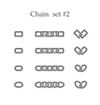 Chain set two vector image