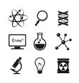 Chemistry and science icons set vector image vector image