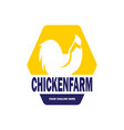 chicken farm logo design vector image vector image
