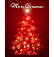 Christmas card with tree full of light vector image