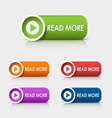 Colored rectangular web buttons read more vector image