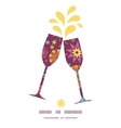 colorful stars toasting wine glasses silhouettes vector image vector image