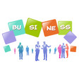 colourful business people silhouette group of vector image vector image
