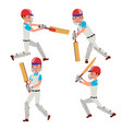 cricket player wearing sport uniform vector image vector image
