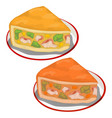 delicious piece pumpkin pie isolated vector image