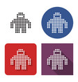 dotted icon spacesuit in four variants with vector image