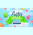 easter sale background card with hand drawn vector image vector image
