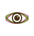 eye sign colorful icon vector image vector image